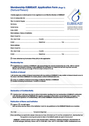 Download of application form for natural persons
